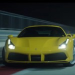 Ferrari 488 GTB on the track